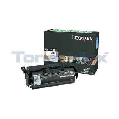 LEXMARK X651 X652 TONER CARTRIDGE RP 25K